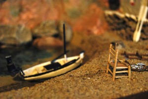 Imagen belén El mar y la pesca. Una cala de la Costa Brava