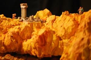 Imagen belén Tierra de Piedra inspirado en la mítica Petra