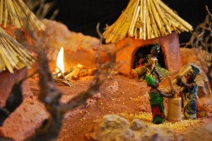 Image of Nativity scenes inspired by the African savannah