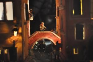 Image belén Venecia, las figuras cobran vida en los canales