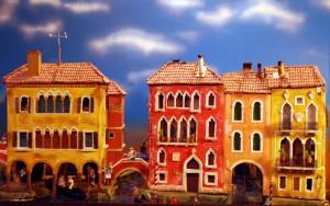 Imatge pessebre Venècia, les figures prenen vida en els canals