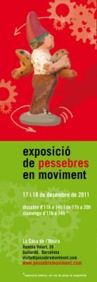 Cartel exposición Pessebres en moviment. Navidad 2011. jornada de puertas abiertas