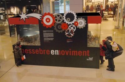 Imatge de l'exposició de Pessebres en moviment a L'illa Diagonal de Barcelona durant el nadal de l'any 2012
