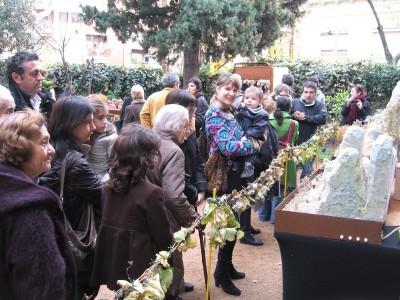 Imatge de la jornada de portes obertes de Pessebres en moviment (Nadal 2010)