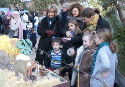 Imagen de la jornada de puertas abiertas de Pessebres en moviment (Navidad 2010)