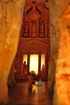 Image of Nativity scenes inspired by the world renowned city of Petra