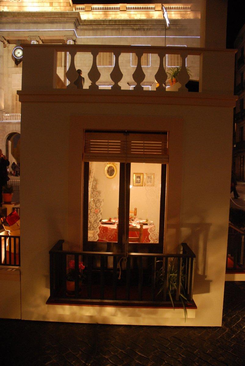 Imatge del pessebre de la plaça Sant Jaume de Barcelona. Nadal 2013