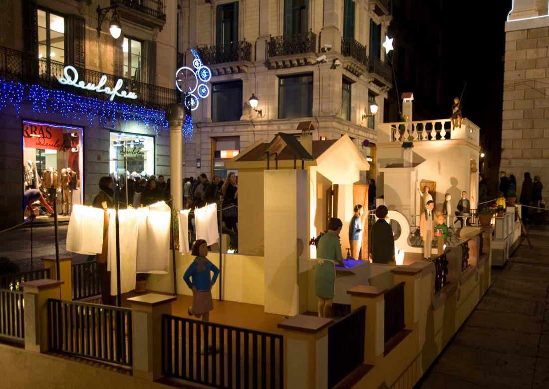 Imagen del Belén de la Plaça Sant Jaume Navidad 2013