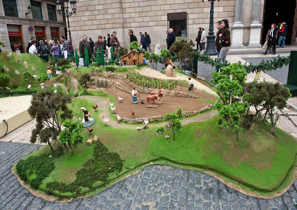 Imatge del pessebre de la Plaça Sant Jaume Nadal 2010