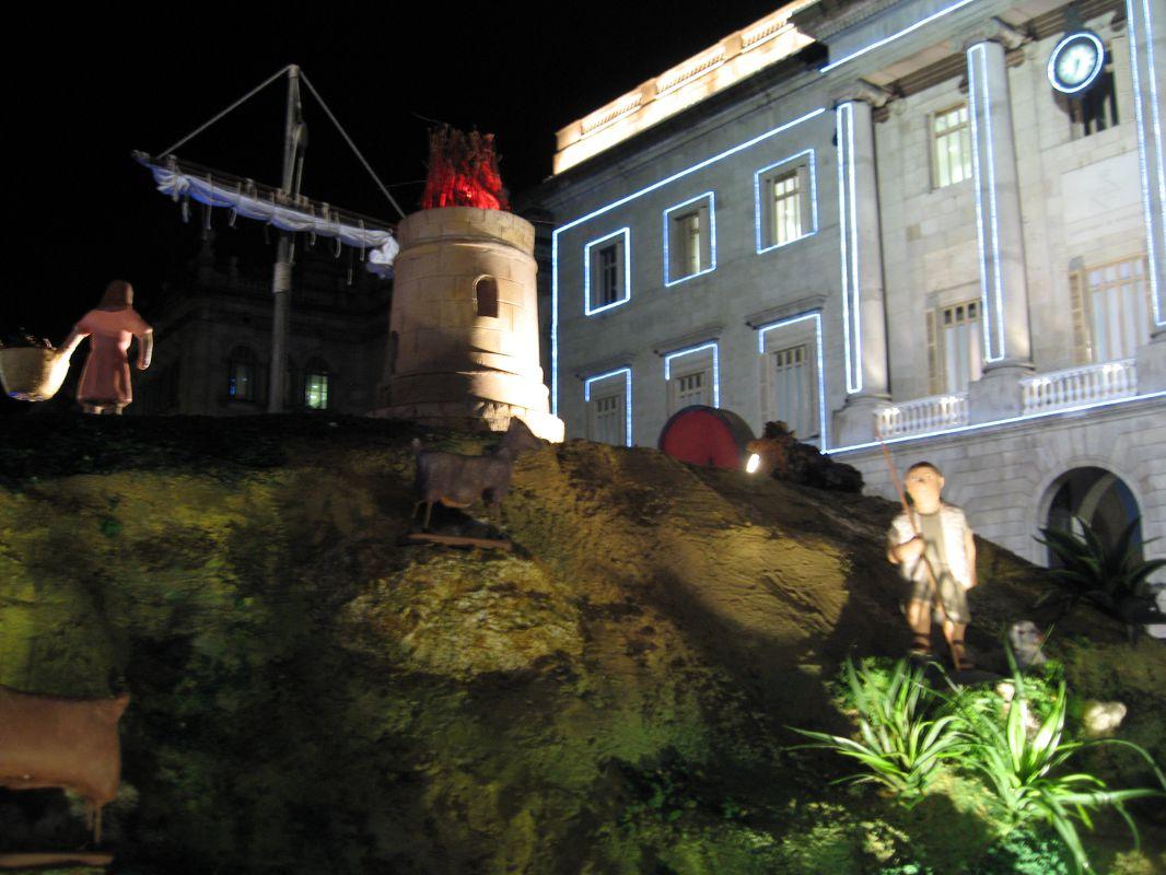 Imagen Belén Barcino. Navidad 2014 Plaza Sant Jaume Barcelona