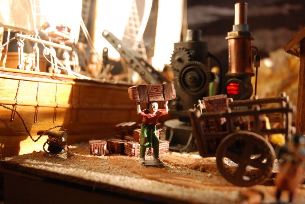 Imagen belén Revolución industrial