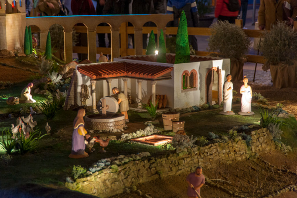 Imagen del Belén de la Plaza Sant Jaume Navidad 2014. Barcino