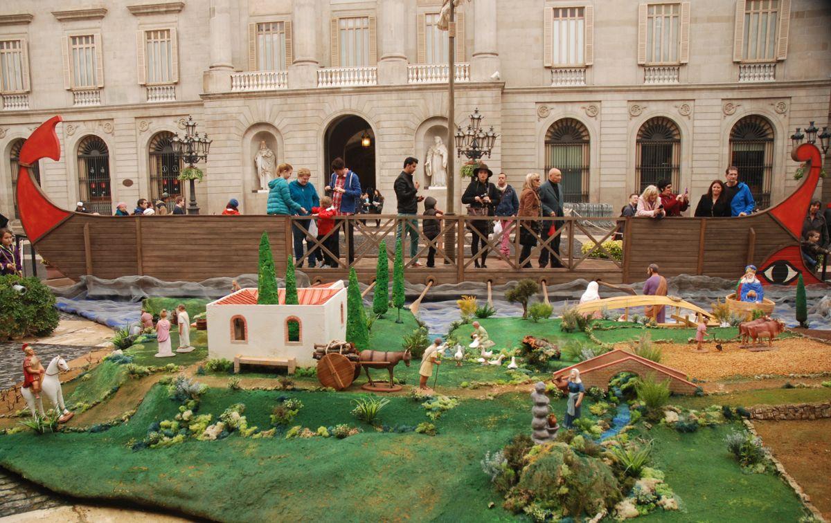 Imatge del Pessebre Sant Jaume 2014. Bàrcino